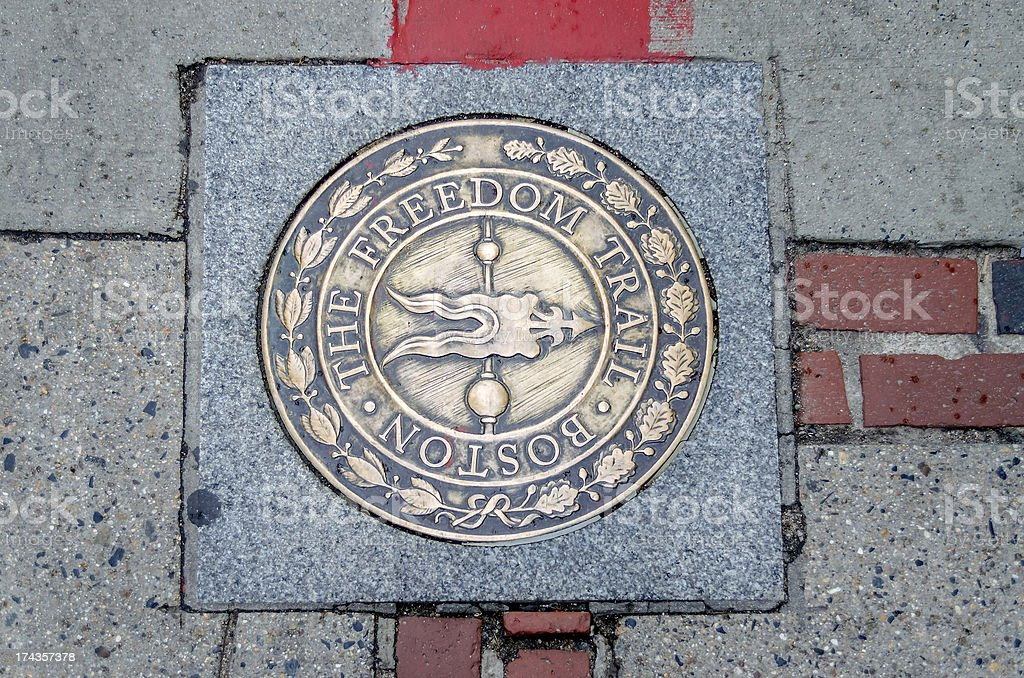 The Freedom Trail Sign royalty-free stock photo