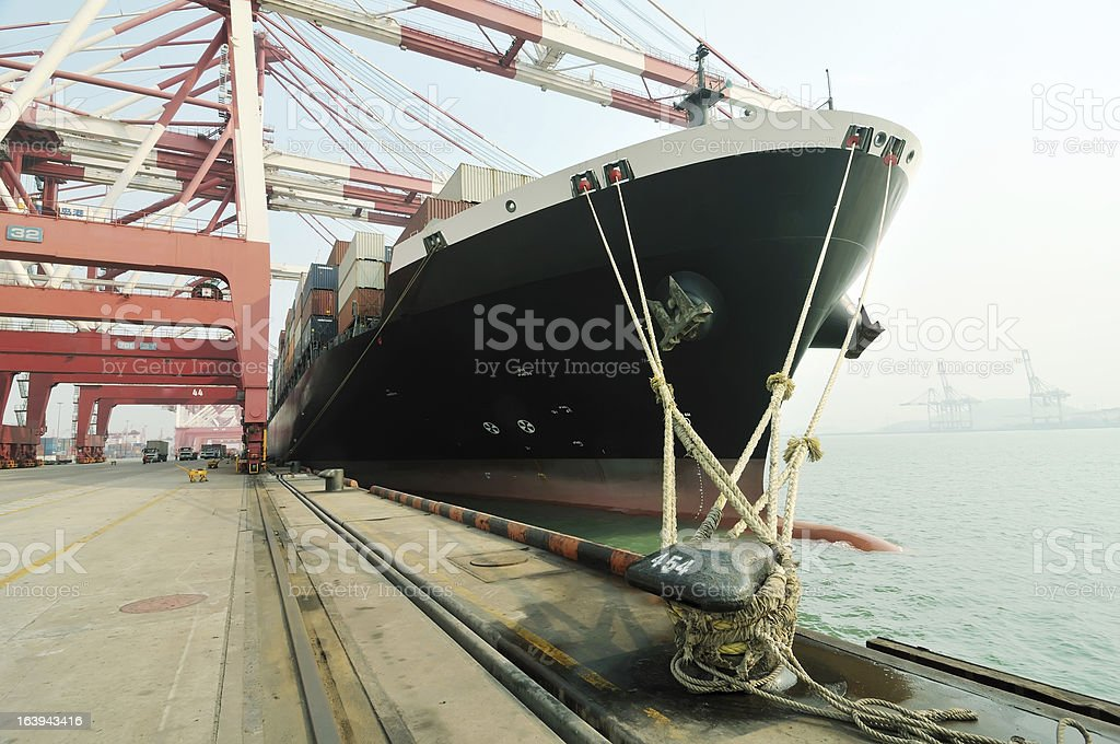 The freighter royalty-free stock photo