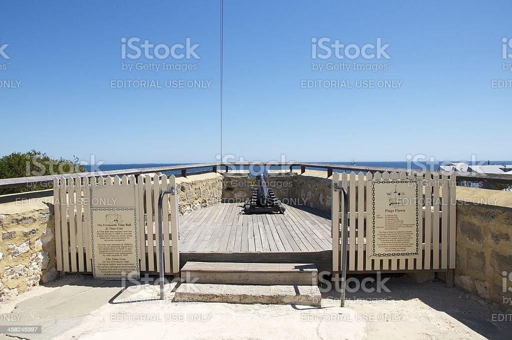 The Fremantle Time Gun stock photo