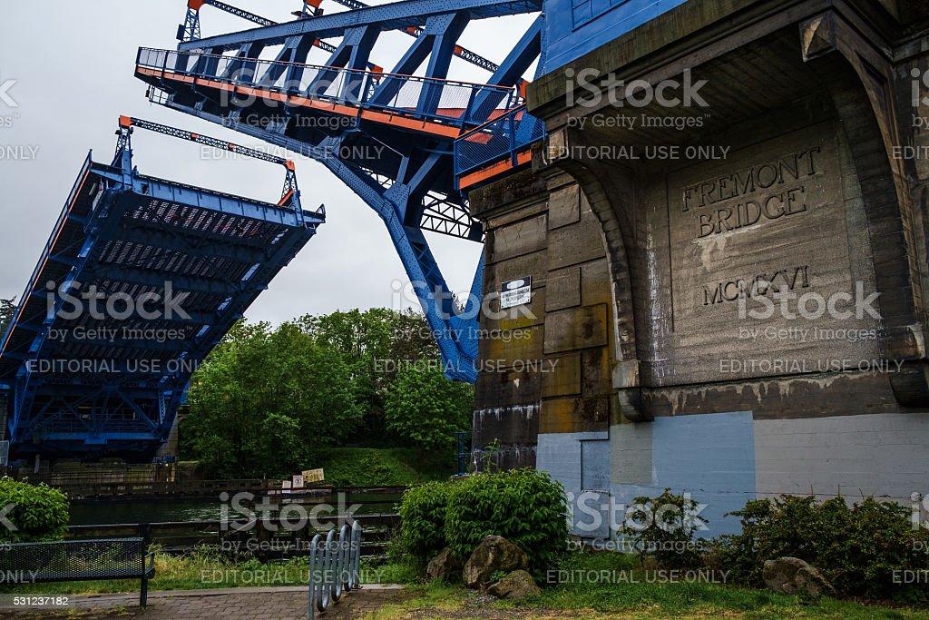 The Fremont Bridge stock photo