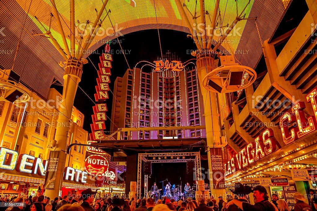 the Fremont street experience Las Vegas stock photo