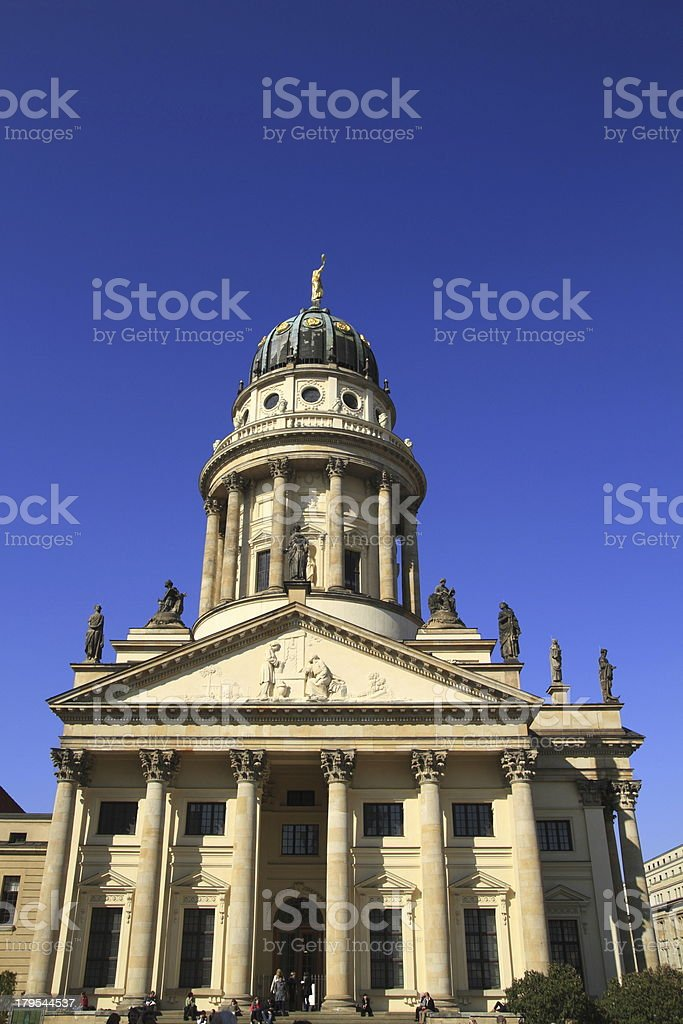 The French Friedrichstadt Cathedral royalty-free stock photo