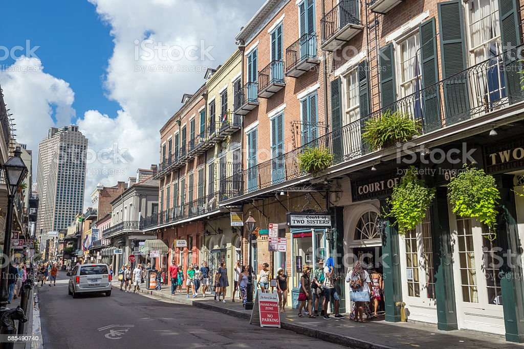 The French Quarter in New Orleans stock photo