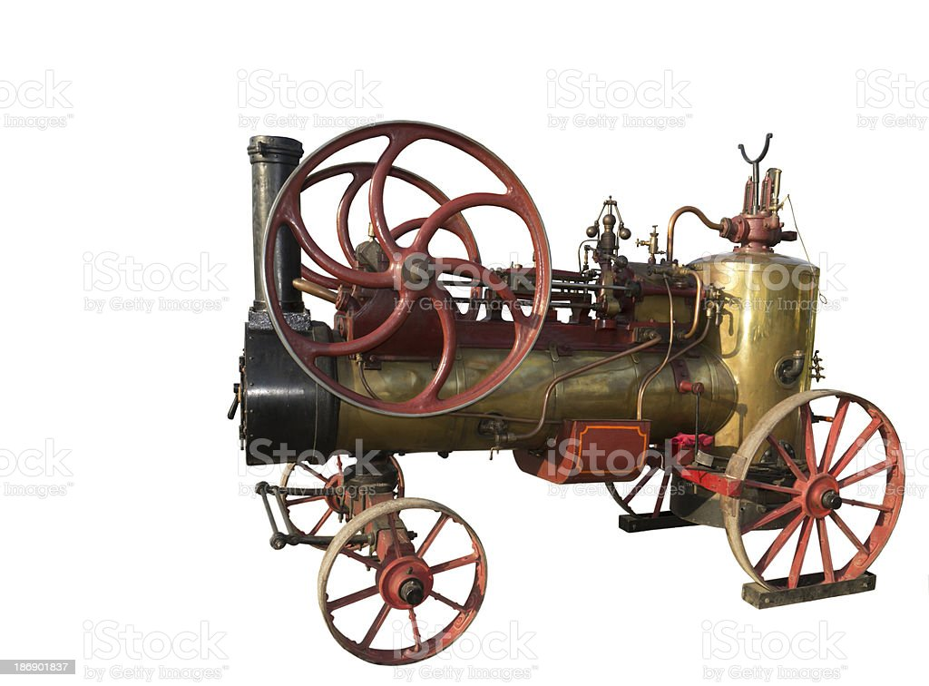 The French steam-engine stock photo
