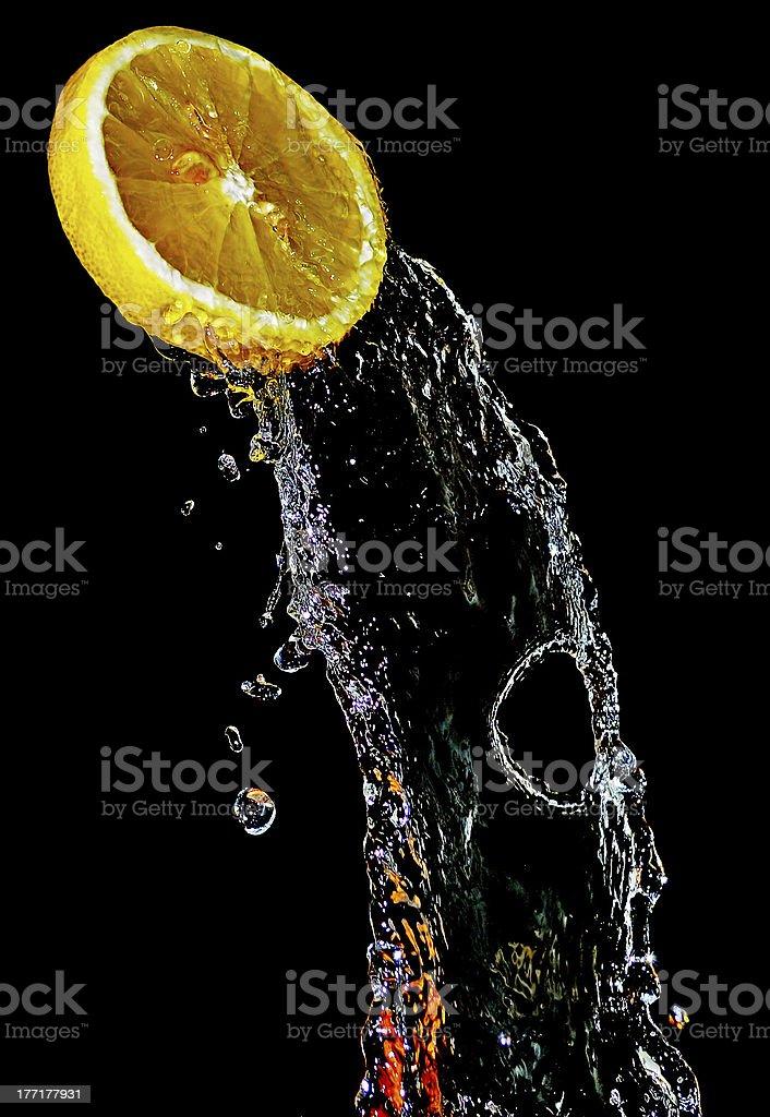 The freshness of lemon royalty-free stock photo