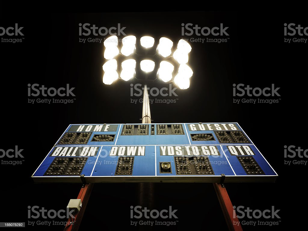 The Friday Night Lights royalty-free stock photo