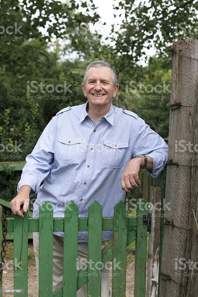 The friendly older guy next door royalty-free stock photo