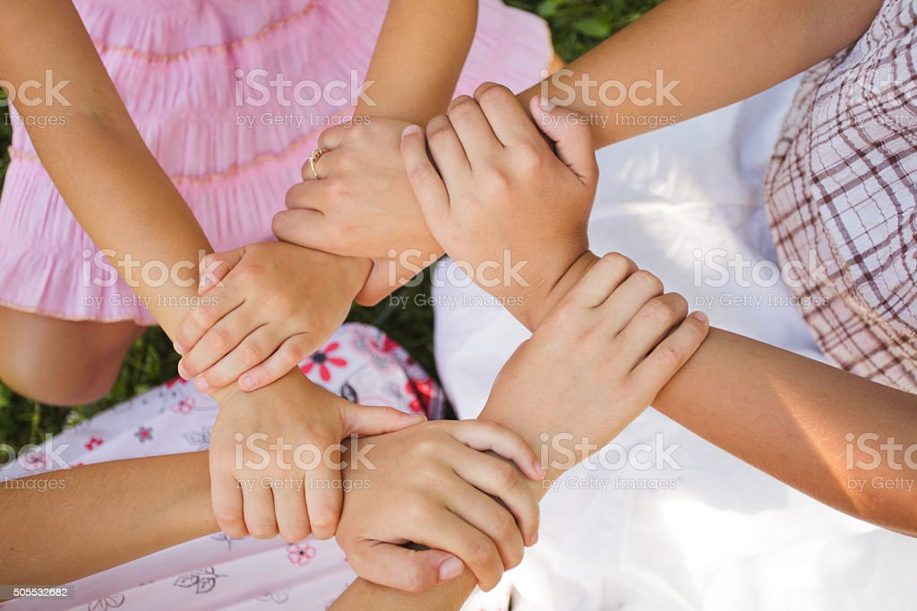 The friends forever stock photo