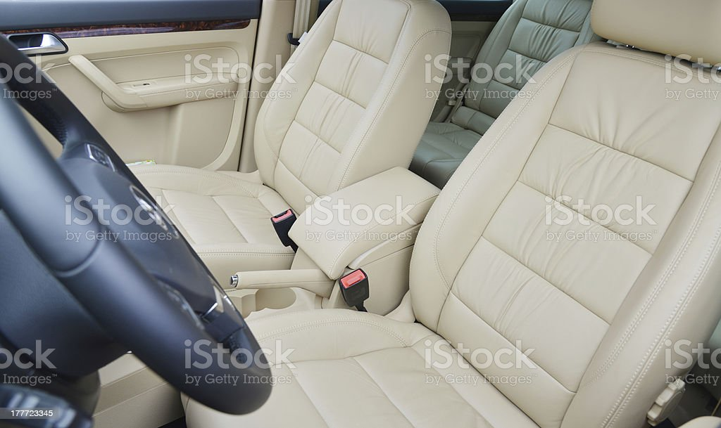 The front seats of car stock photo