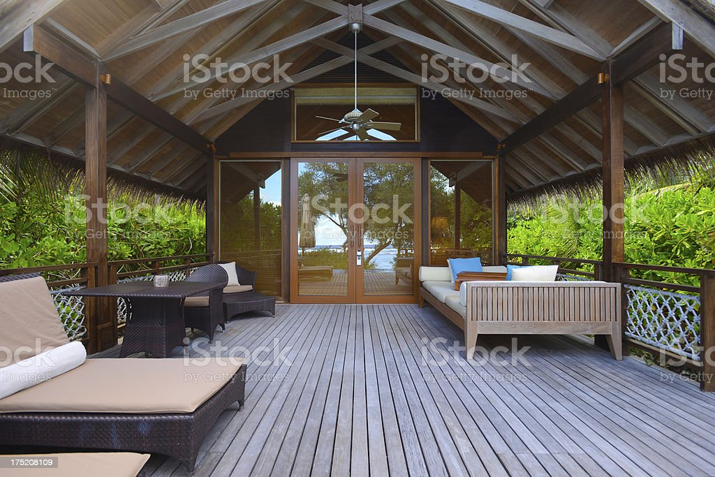 The Front View of Beach House stock photo