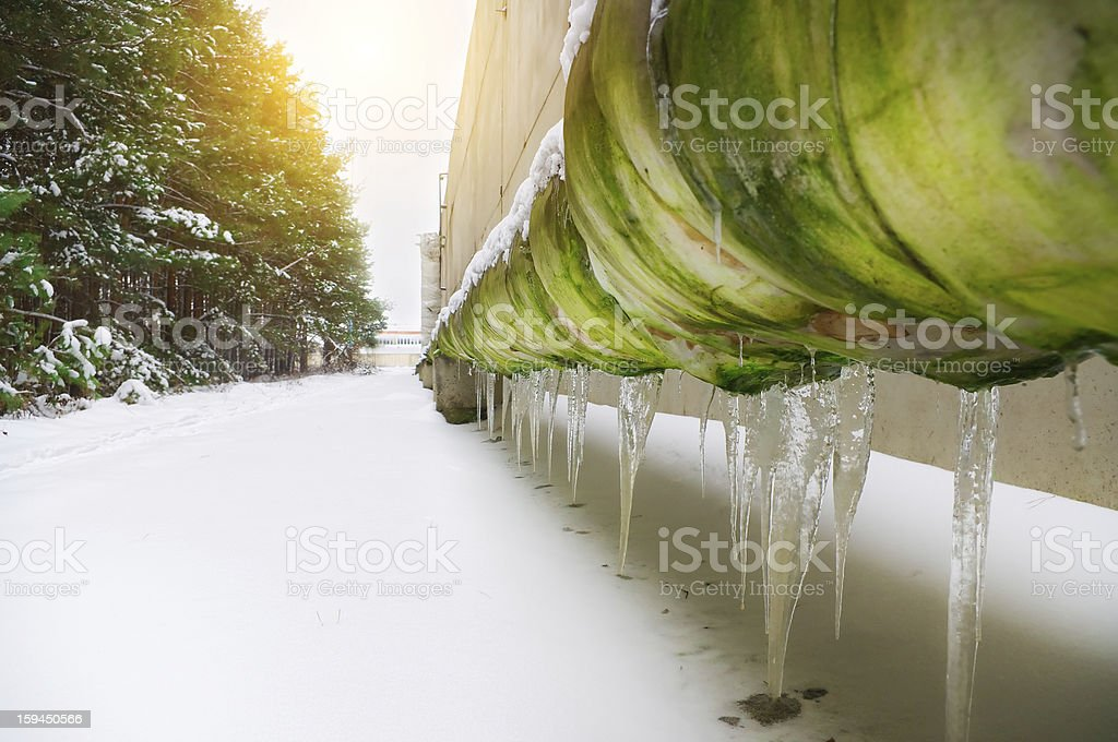 The frozen pipeline. royalty-free stock photo
