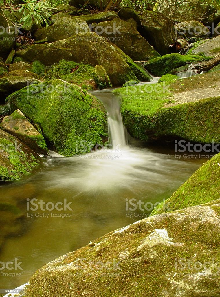 The Frozen Stream. royalty-free stock photo