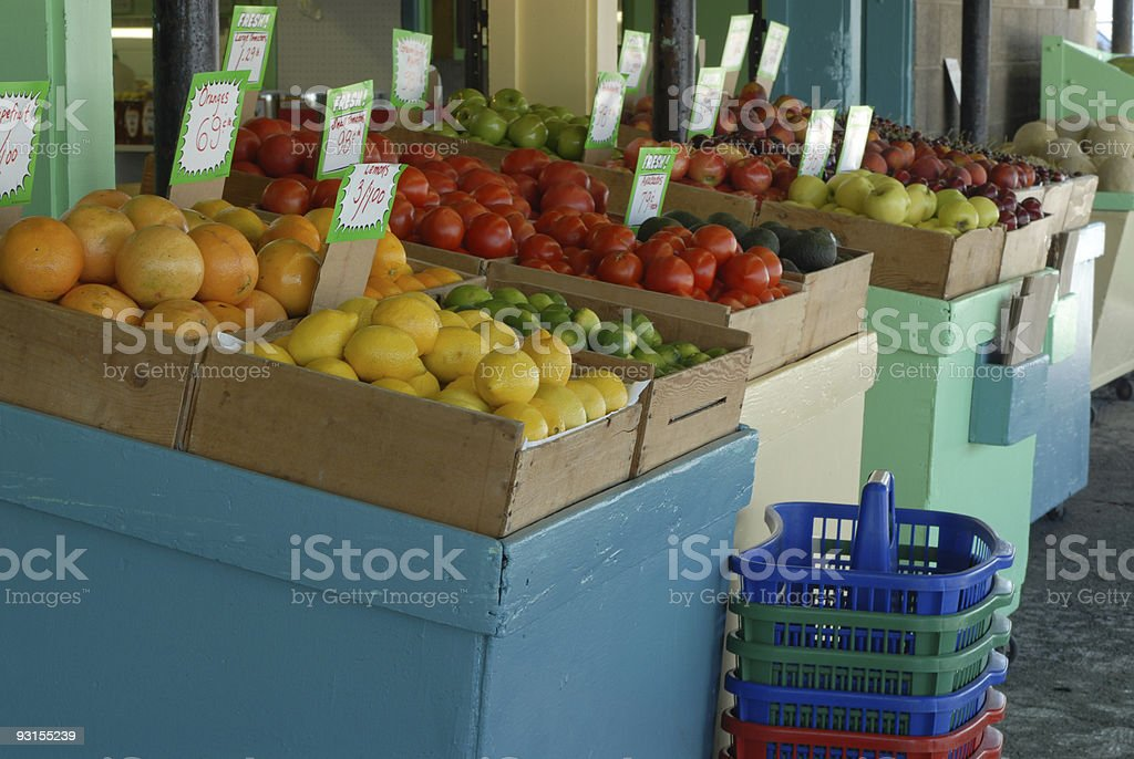 The Fruit Stand royalty-free stock photo
