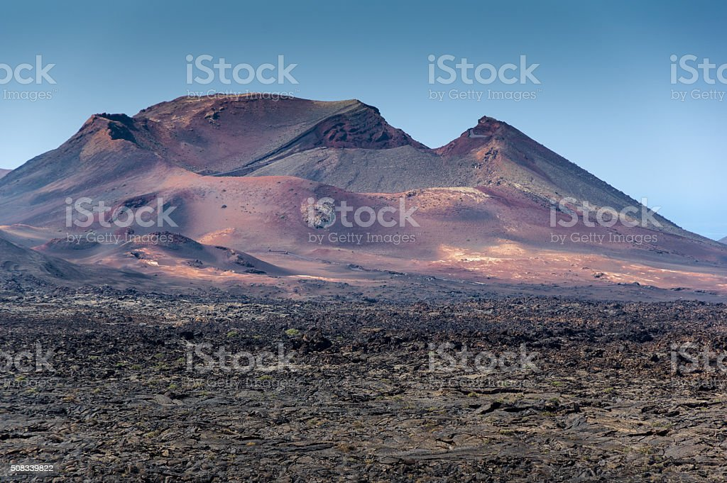 The Fuego Mountains stock photo