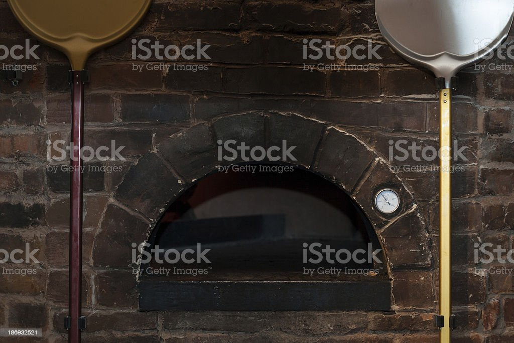 The furnace for baking of pizza royalty-free stock photo