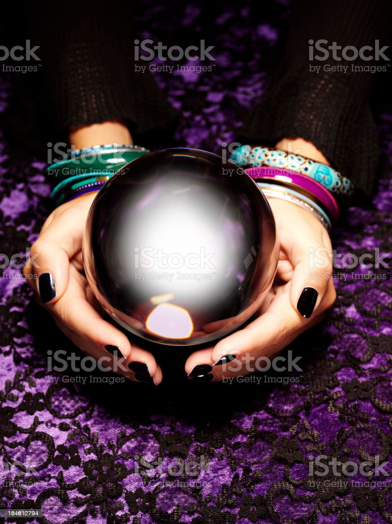 The Future by a Fortune Teller royalty-free stock photo