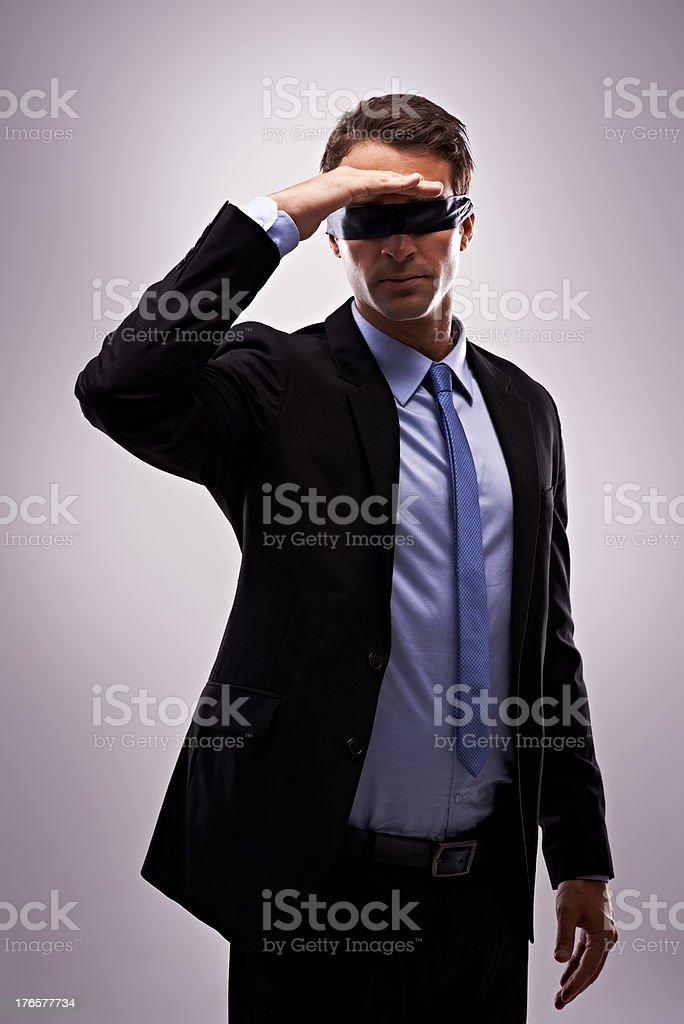 The future is unsure stock photo
