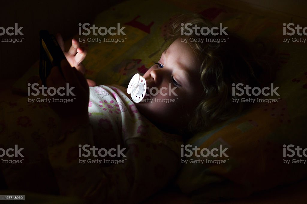 The Future of Bedtime Stories stock photo