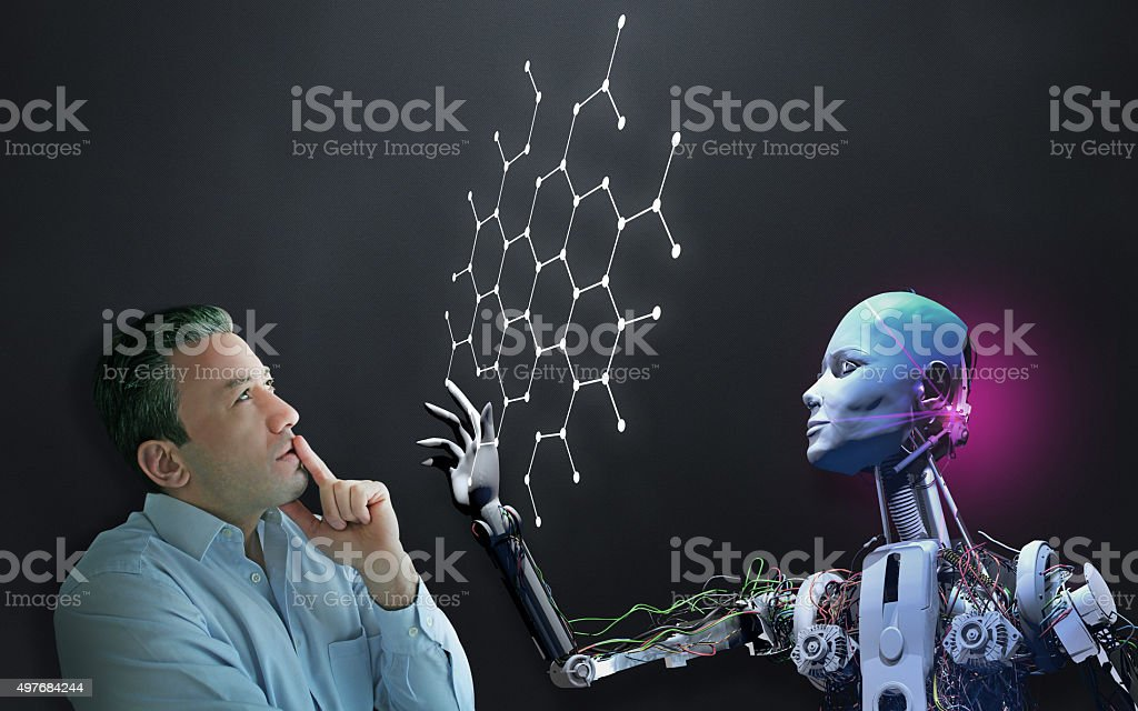 The Future of Biological Research stock photo