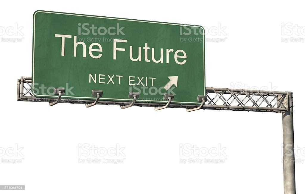 The Future road sign royalty-free stock photo