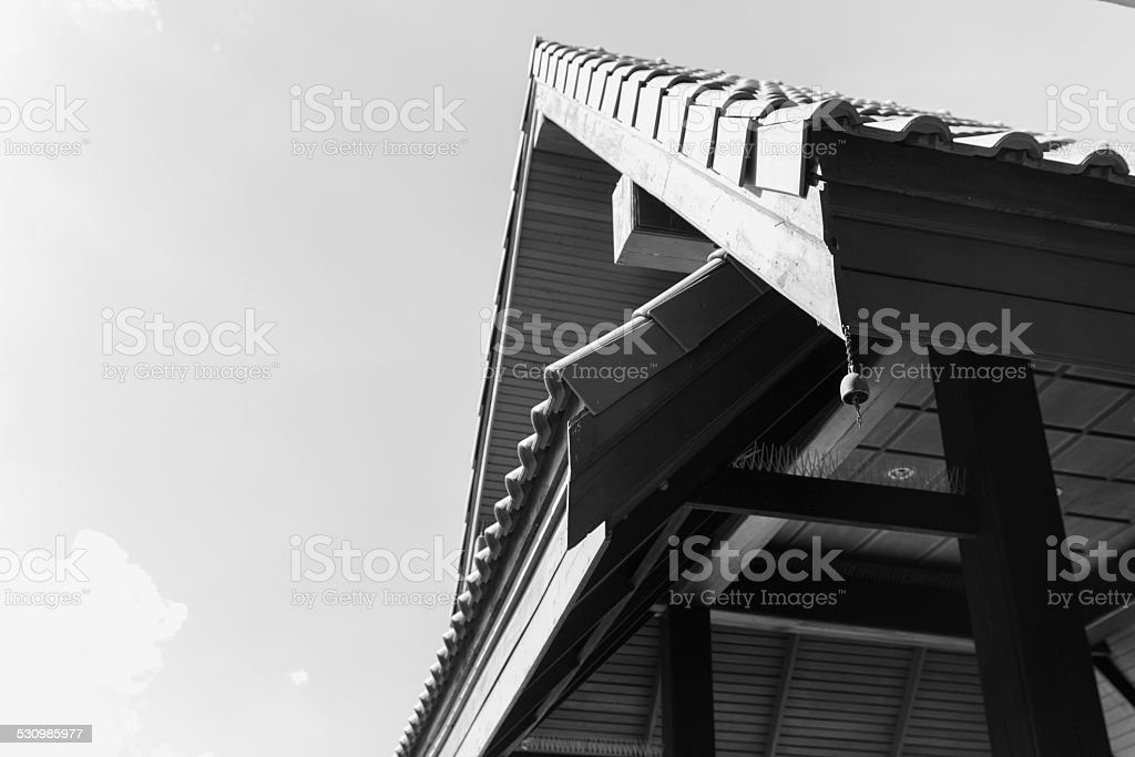 the gable of the pavilion stock photo