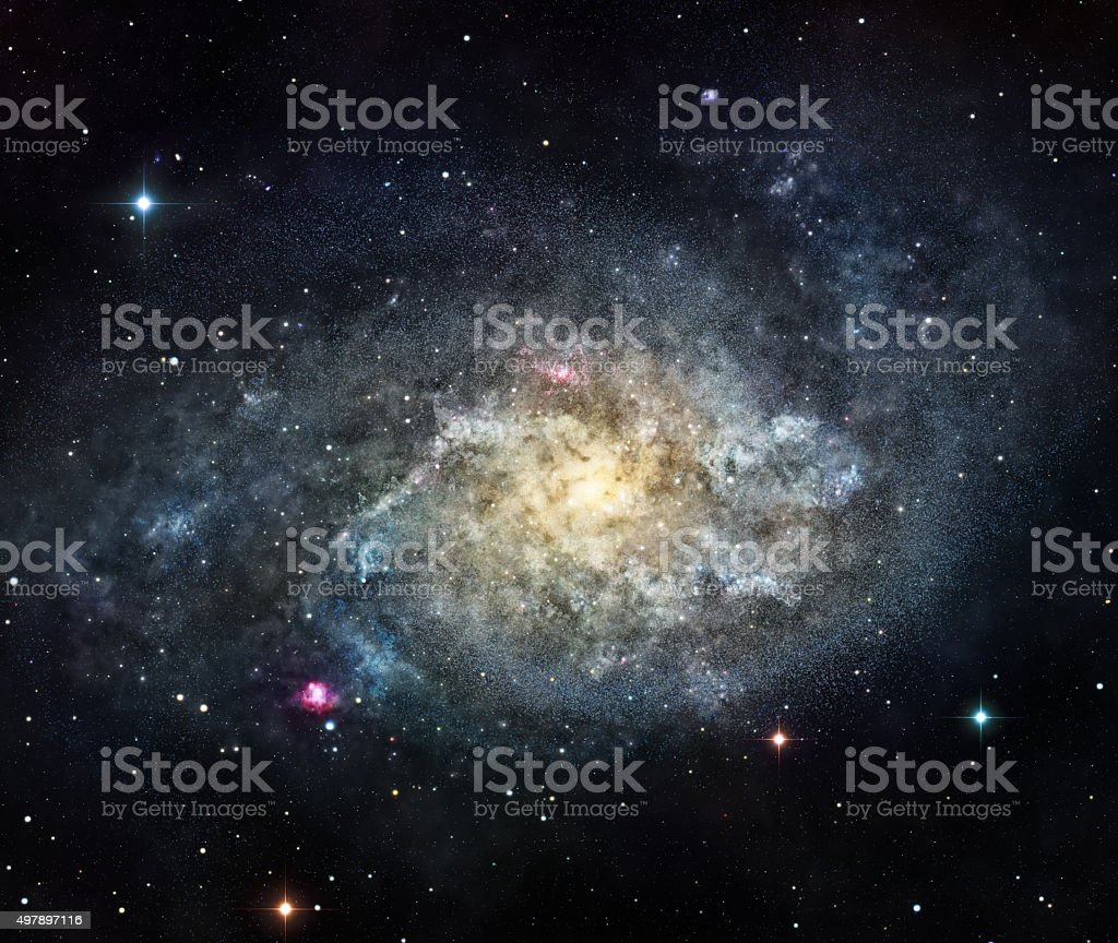 The galaxy stock photo