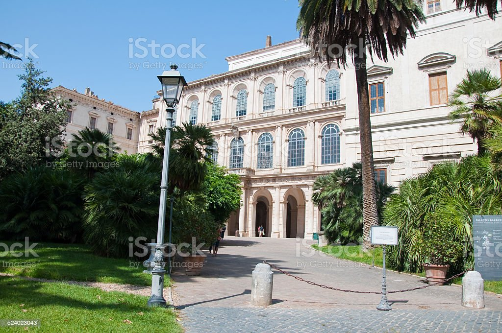 The Galleria Nazionale d'Arte Antica. Rome, Italy. stock photo