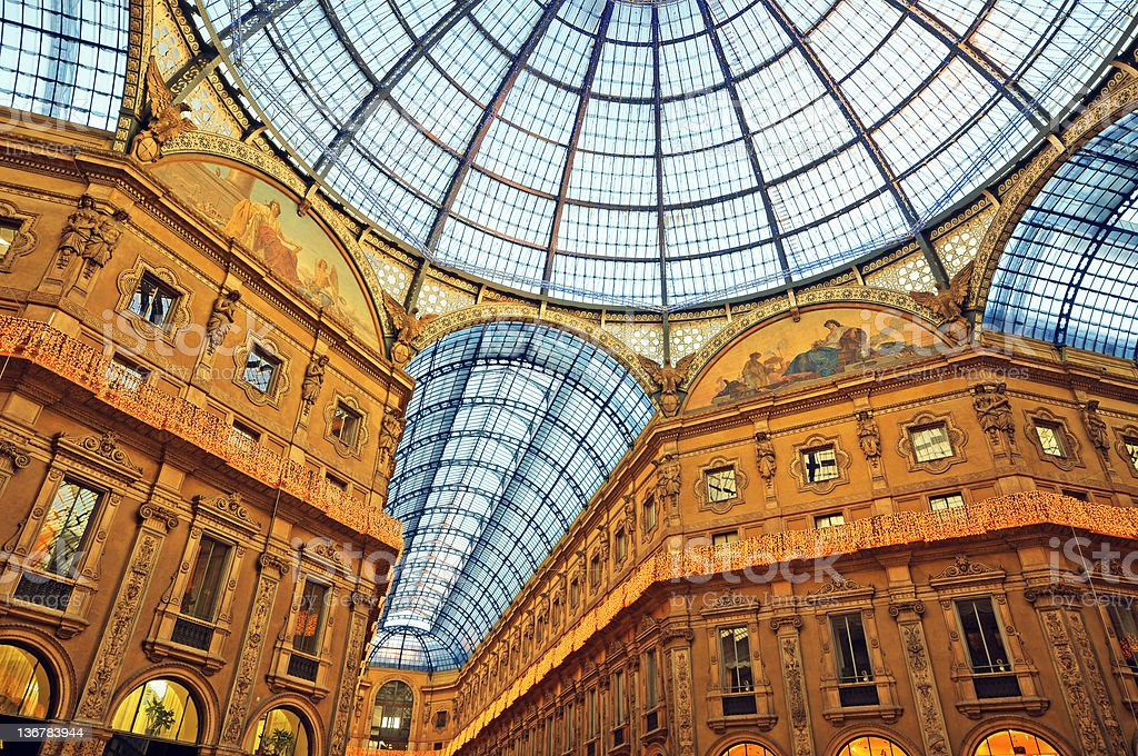 The Galleria Vittorio Emanuele II,  Milan - Italy stock photo
