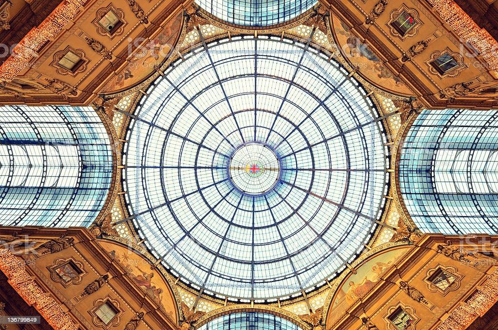 The Galleria Vittorio Emanuele II,  Milan - Italy royalty-free stock photo
