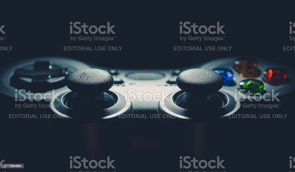 The game controller stock photo