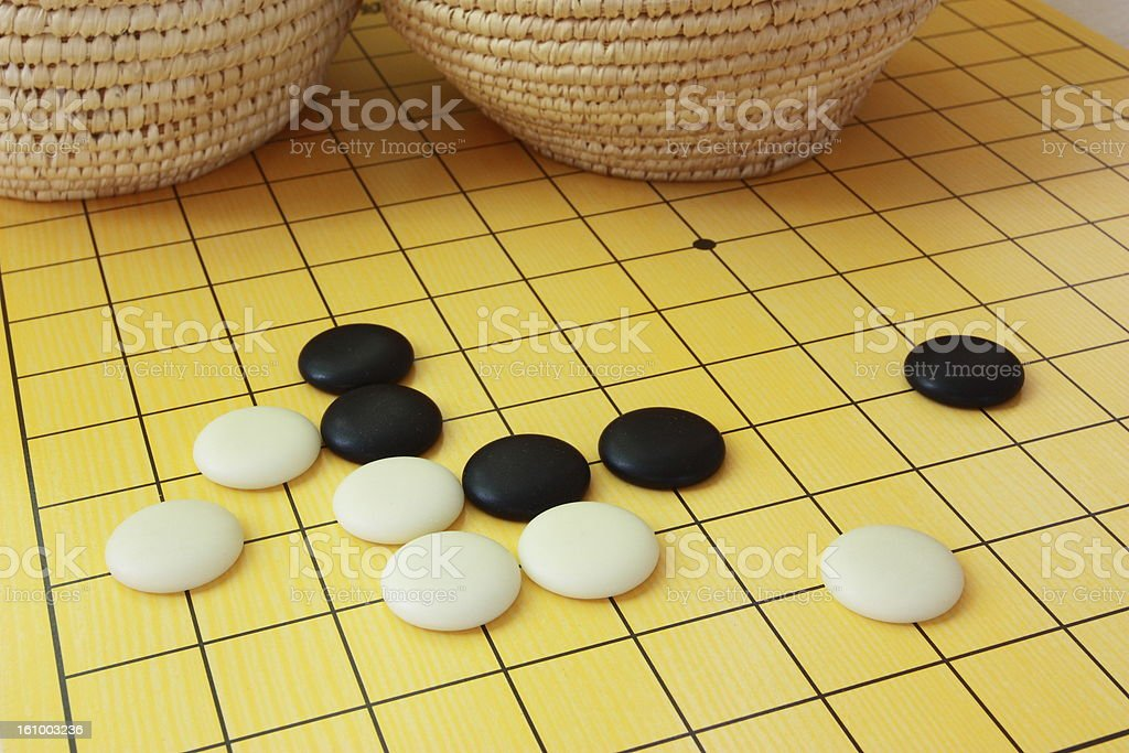The game of go royalty-free stock photo