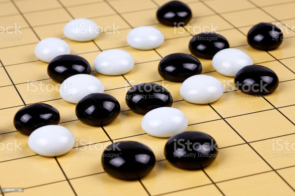 the game of go stock photo