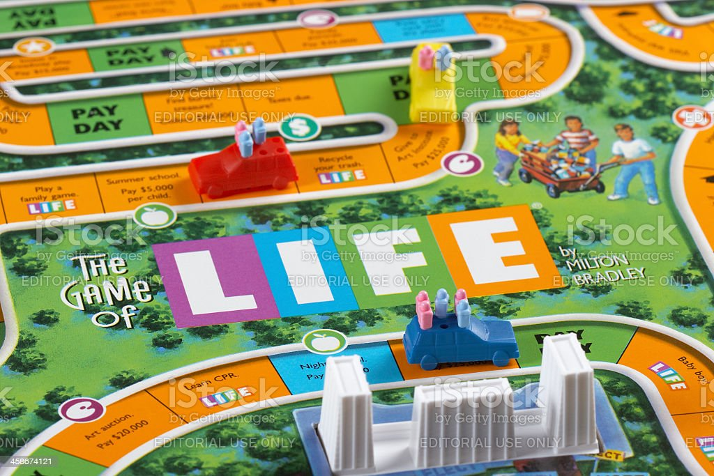 The Game of Life stock photo