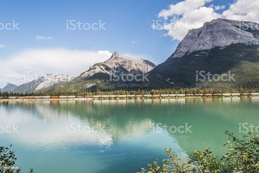 The Gap lake and the mountain stock photo