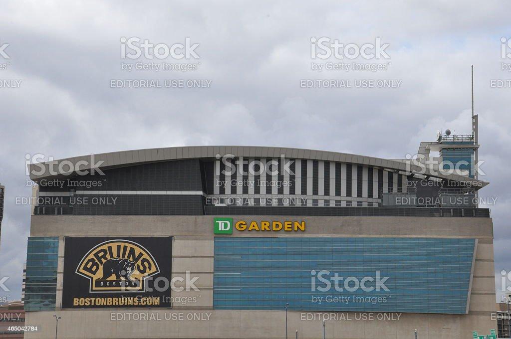 The TD Garden in Boston stock photo