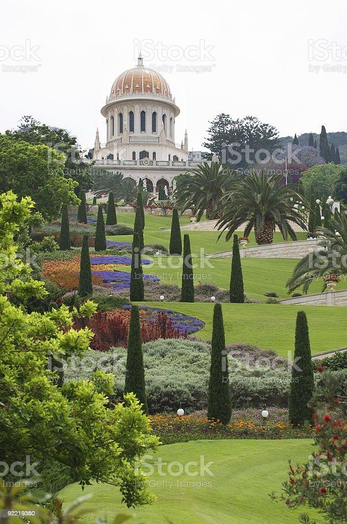 The garden of Bahai stock photo