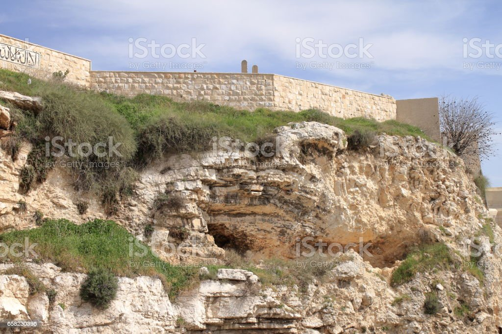 The Garden Tomb - Jerusalem - Israel stock photo