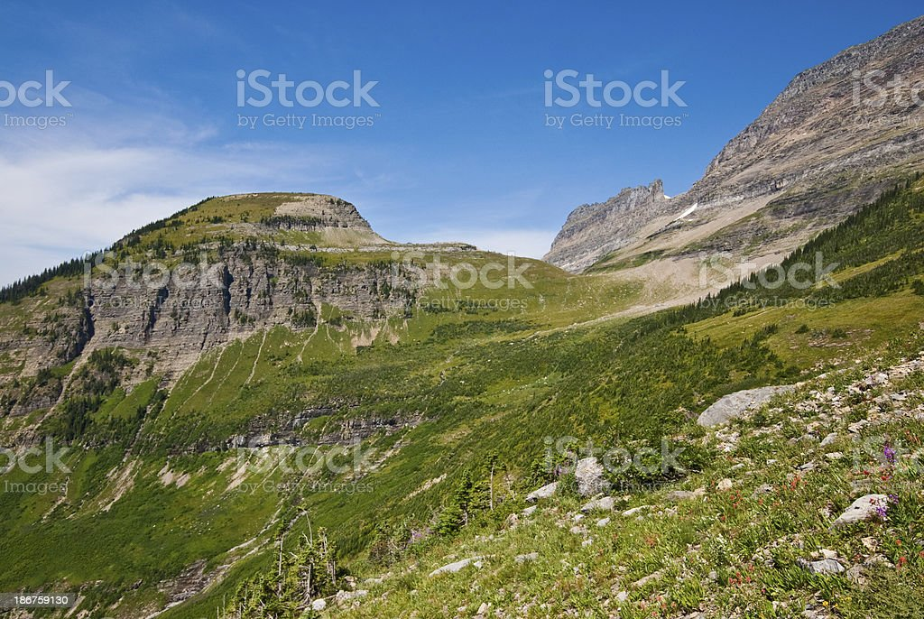 Meadow Below Haystack Saddle royalty-free stock photo
