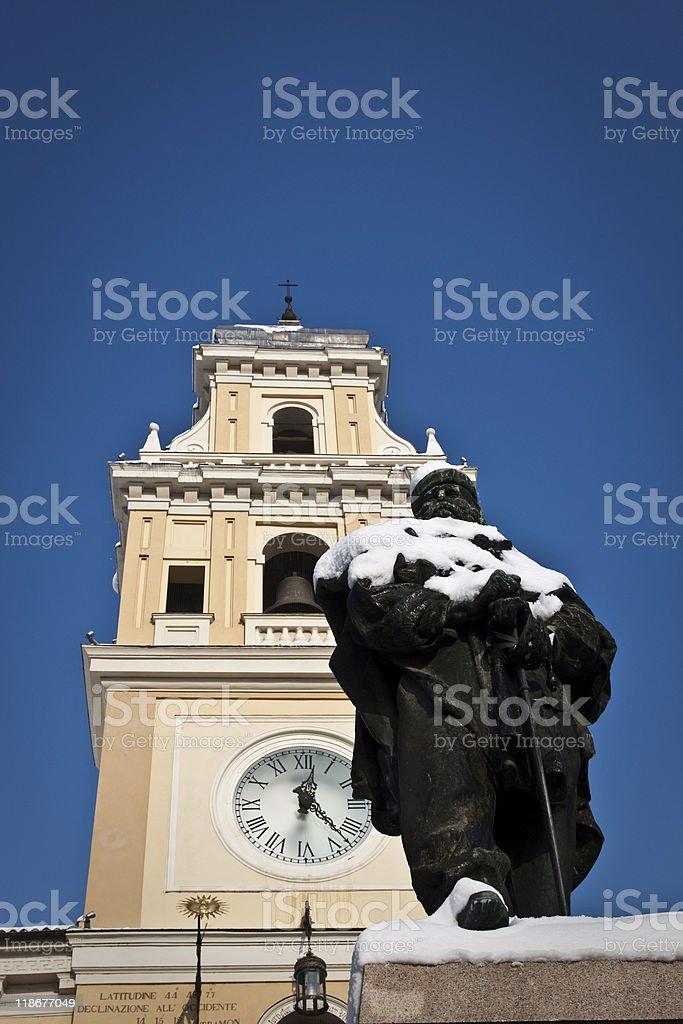 The Garibaldi square in Parma stock photo