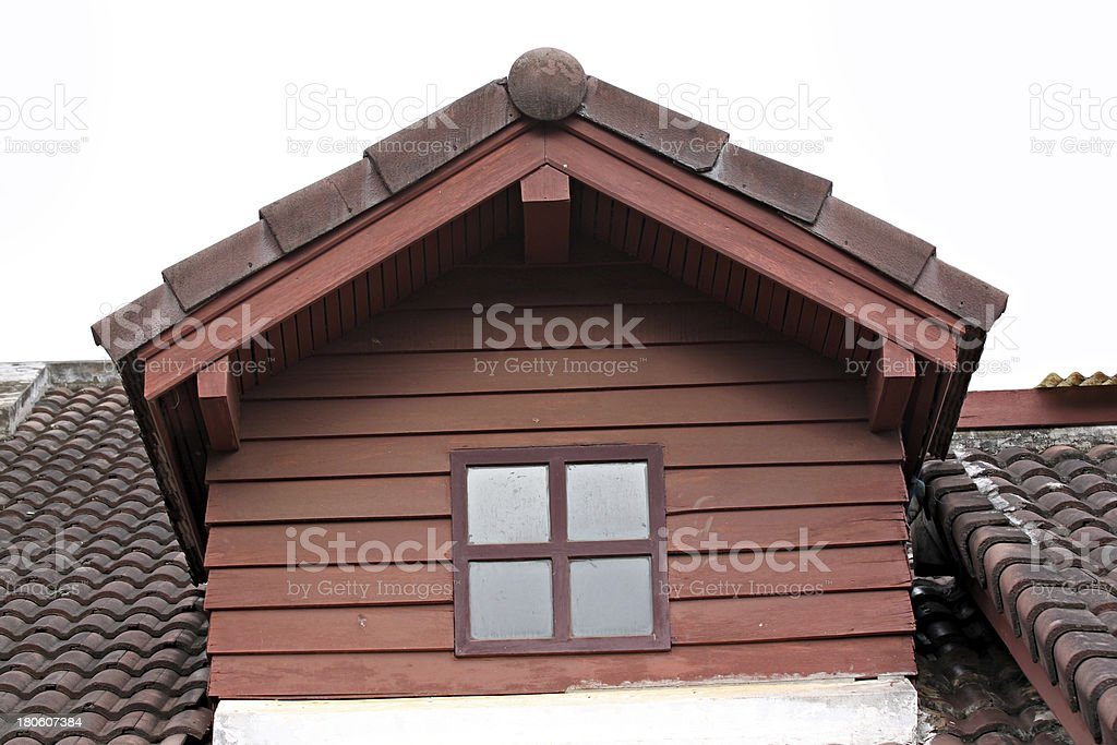The Garret and American style house. royalty-free stock photo
