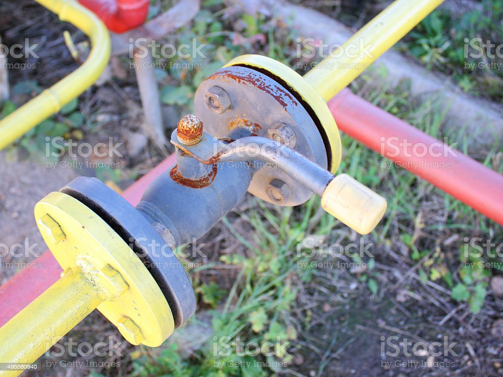 The gas crane stock photo