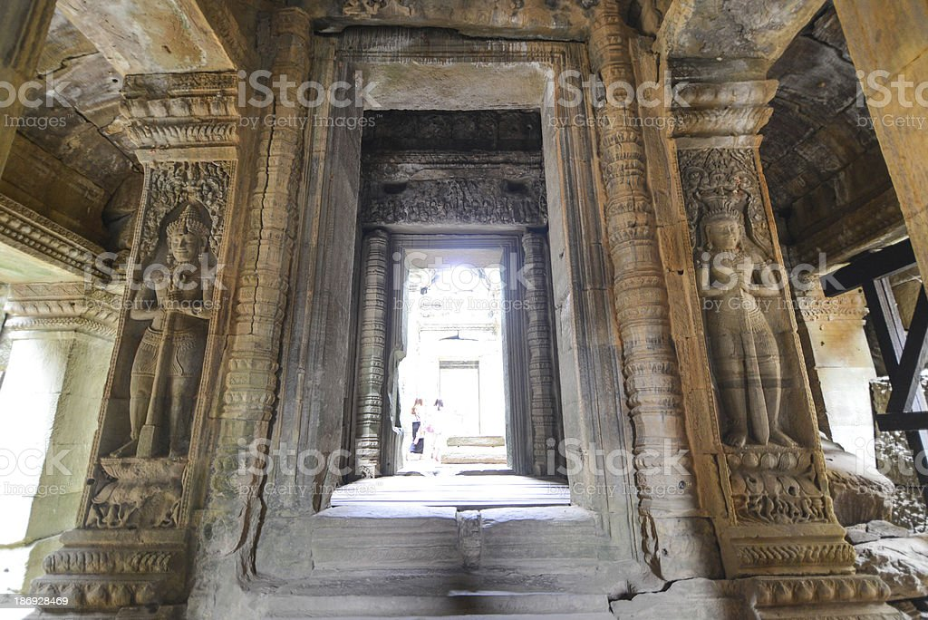 The Gate of Time at Angkor wat royalty-free stock photo