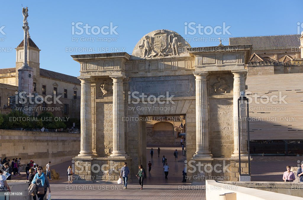 Cordoba, Spain - November 09, 2015: The gate to is stock photo