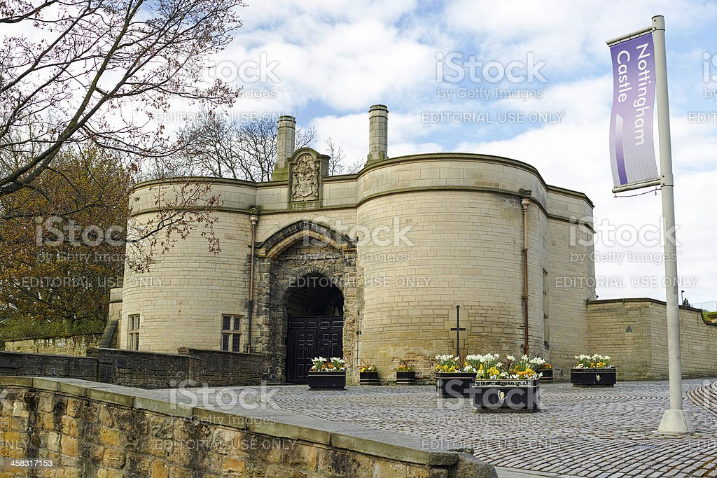 The gatehouse of Nottingham castle. royalty-free stock photo