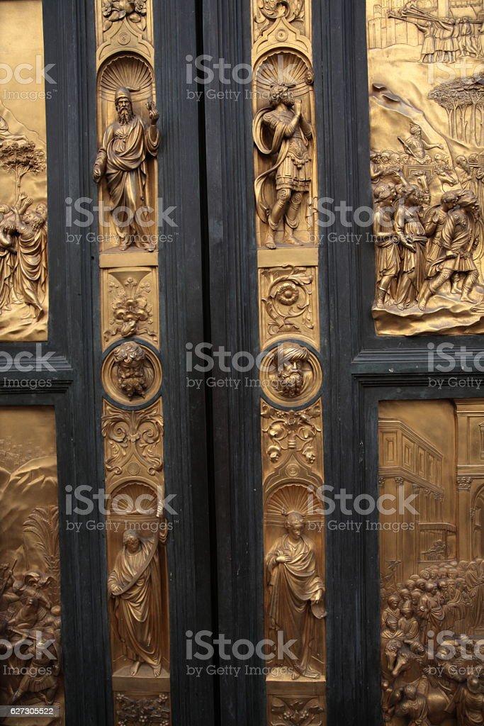 The Gates of Paradise, Florence, Italy stock photo
