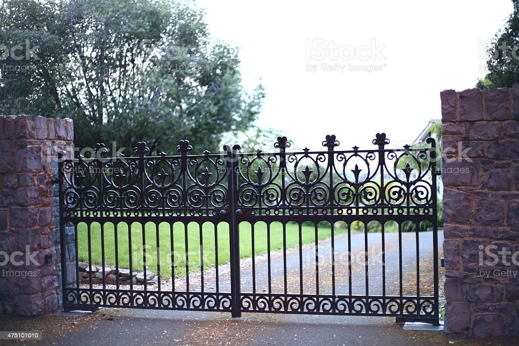The gates on Church Lane royalty-free stock photo