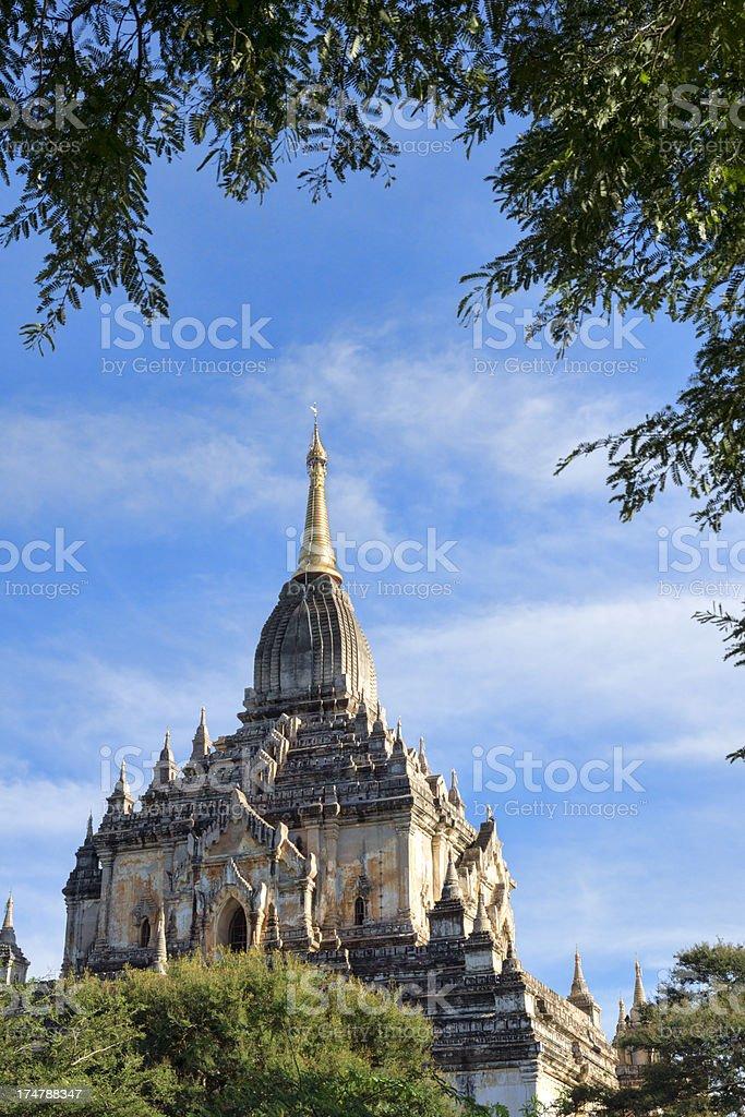 The Gawdawpalin Temple at Bagan, Myanmar royalty-free stock photo