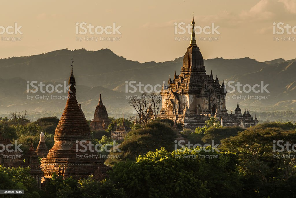 The Gawdawpalin Temple at late afternoon stock photo