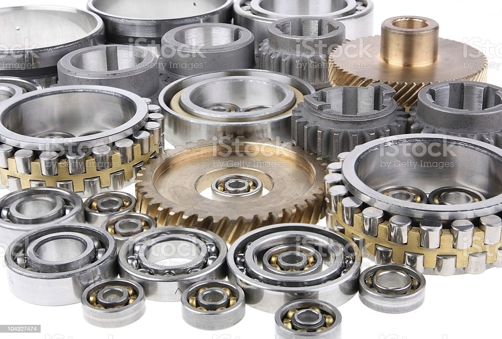 The gears and bearings royalty-free stock photo