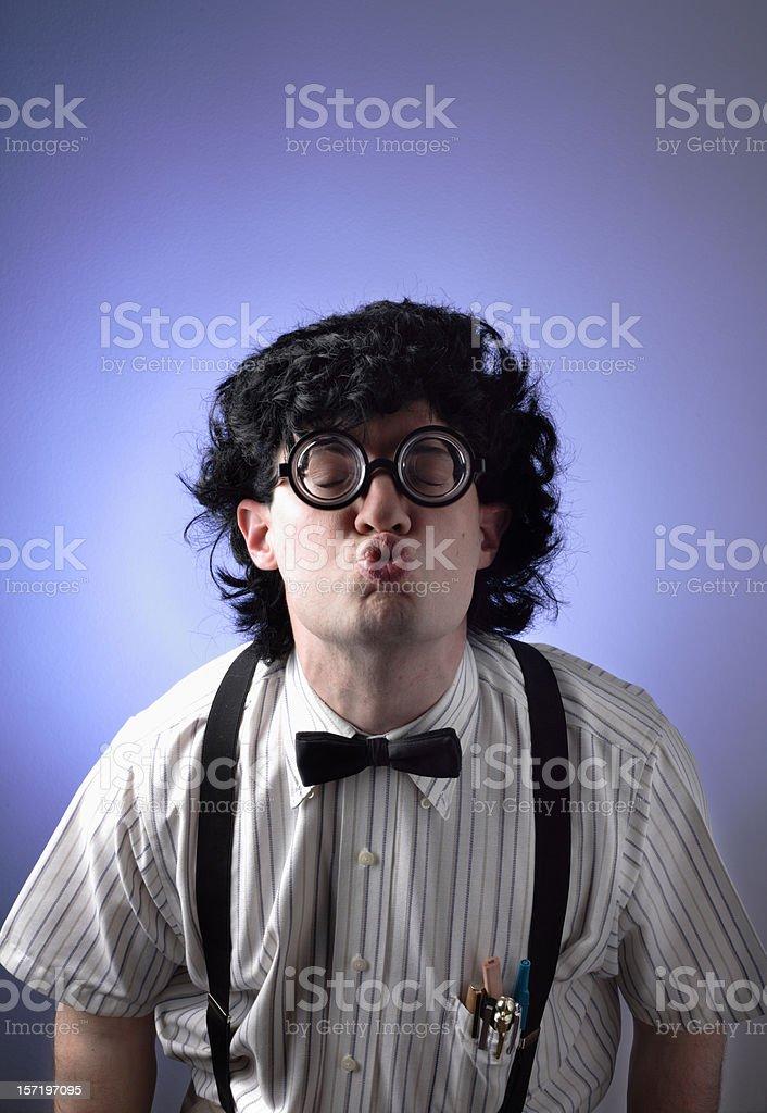 The Geek: Kiss royalty-free stock photo